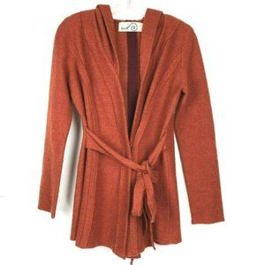Rosie Neira Hooded Spice Cardigan Sweater